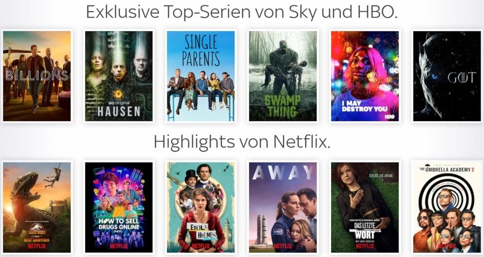 Sky Entertainment Plus - Serien + Netflix