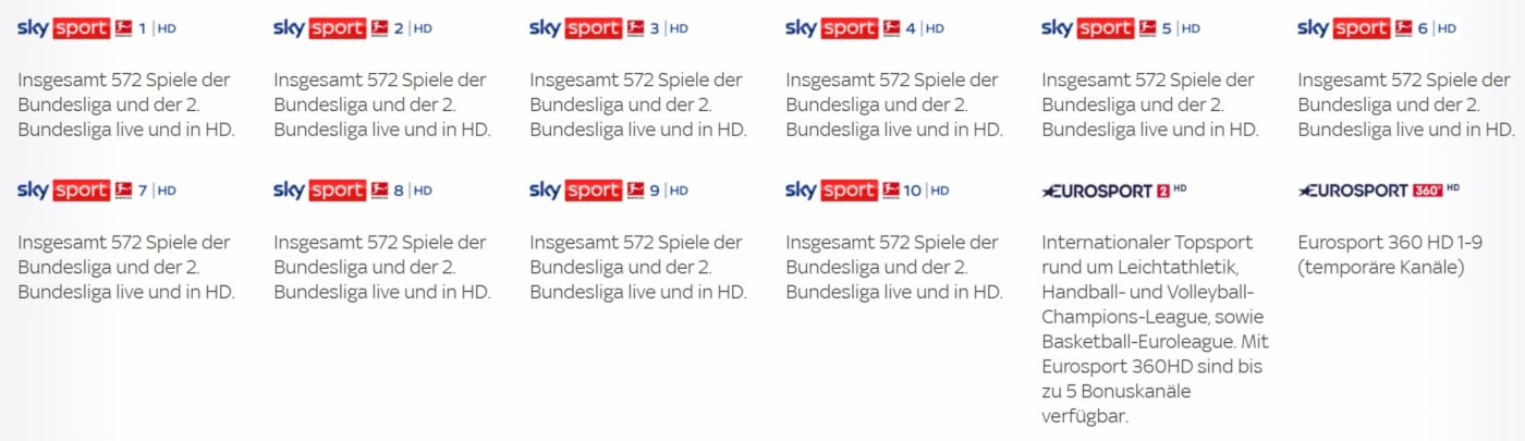 Sky Fußball Bundesliga Sender